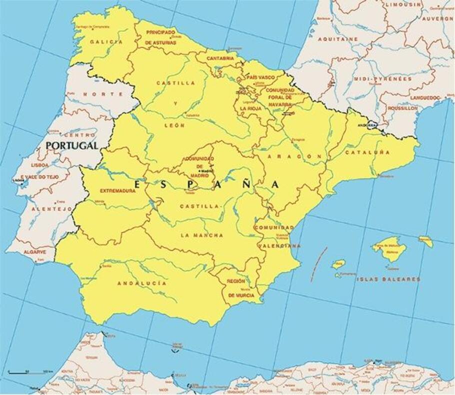 Spanien Regionen Karte.Mineralienatlas Lexikon Spanien