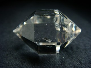Quartz crystal (var. Herkimer diamond)