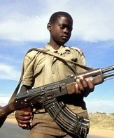 Kindersoldat im Kongo