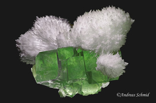 Mordenite on Apophyllite