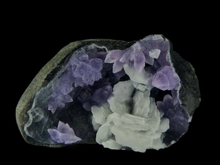 Amethyst with Baryte