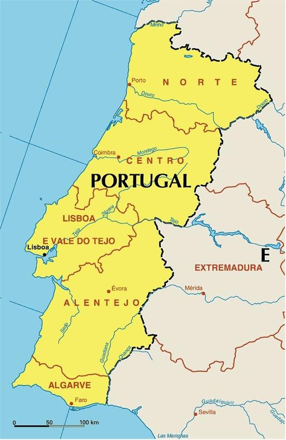 portugal nachbarländer