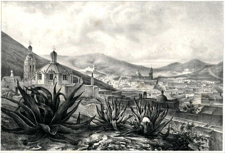 Zacatecas in Mexico 1836