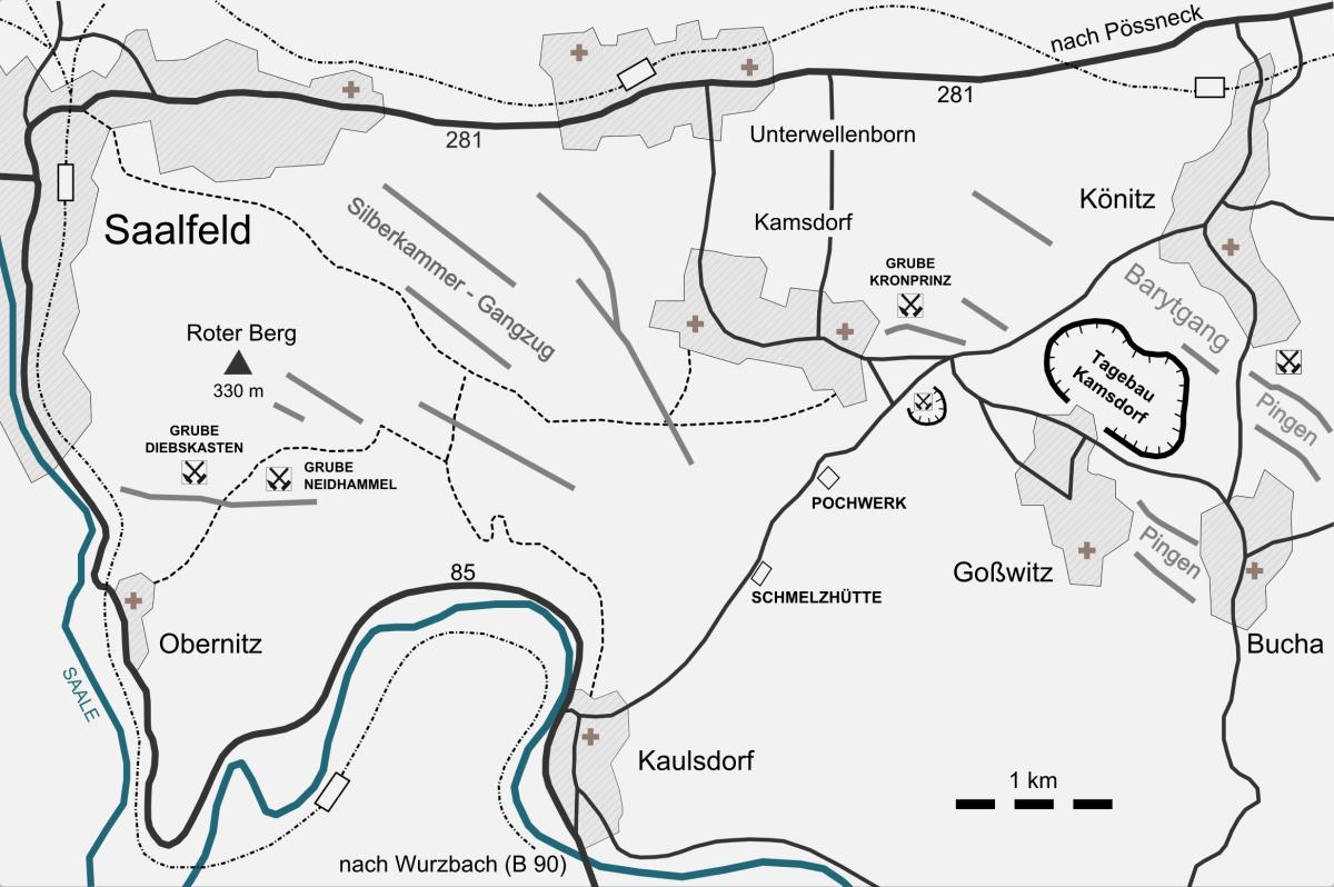 Geologische Karte Thüringen.Mineralienatlas Lexikon Deutschland Thüringen Saalfeld Rudolstadt