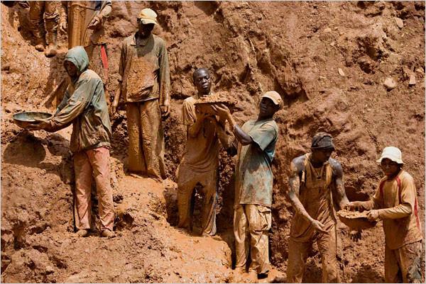 Coltan mining process of diamonds